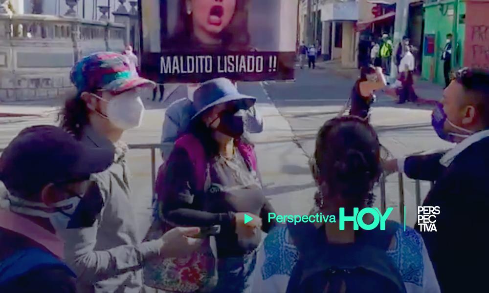 Mensaje de odio en manifestación