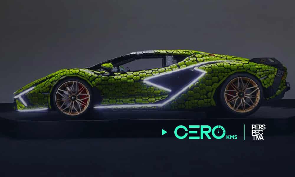 Lamborghini fabricado de legos