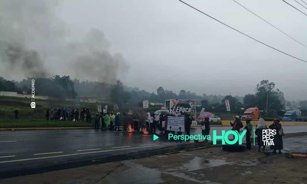 Bloquean Libramiento de Chimaltenango para exigir resarcimiento