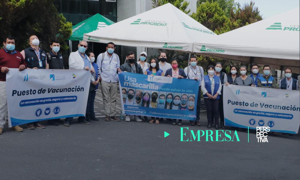 Cámara Guatemalteca de la Construcción abre centro de vacunación vehicular contra COVID-19
