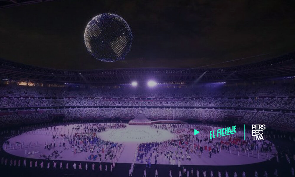 Deslumbrante show con drones marcan la inauguración de Tokio 2020
