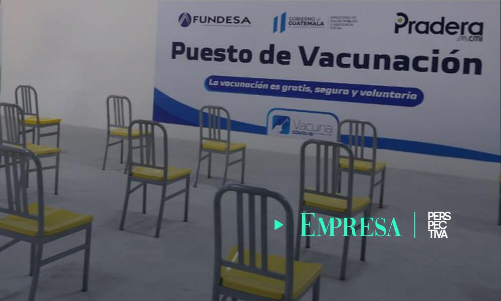 FUNDESA y Pradera Huehuetenango inauguran puesto de vacunación