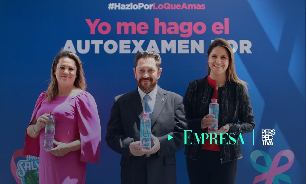 agua salvavidas campaña para prevenir cáncer de mama
