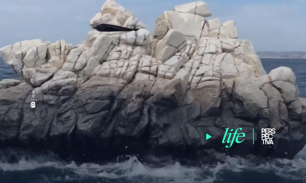 Esta roca gigante que sorprendió a los turistas de Marsella es en realidad obra del artista francés Julien Berthier