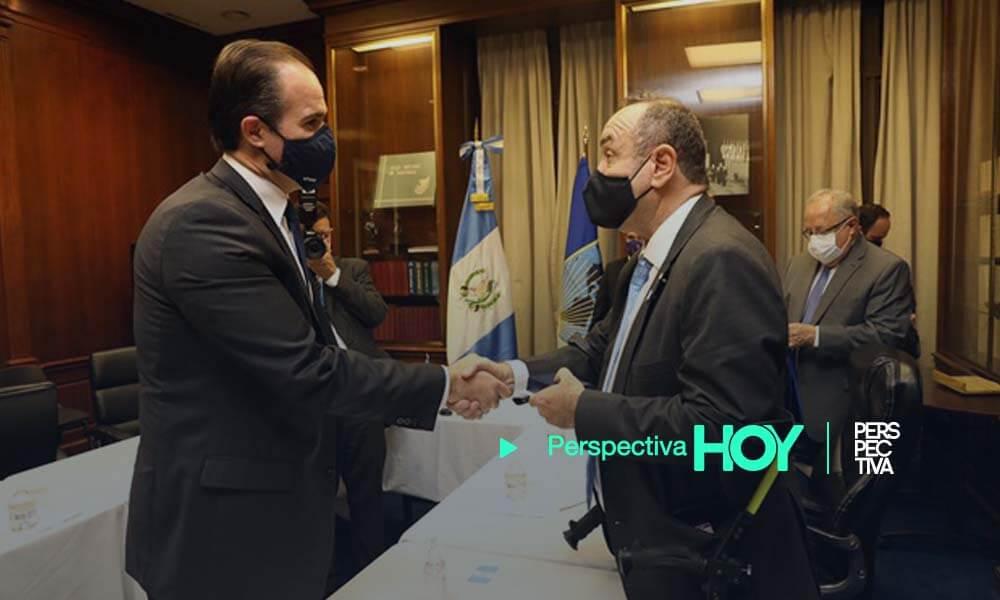 Presidente del BID se reúne con Alejandro Giammattei