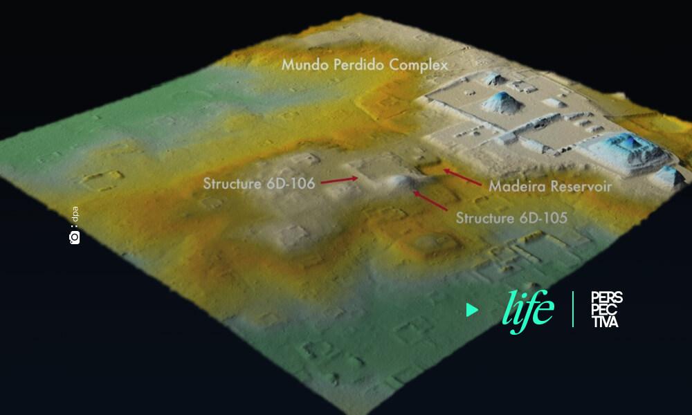 Ruinas de una réplica de Teotihuacán excavadas en Tikal